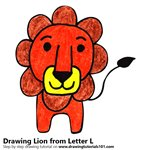 How to Draw a Lion from Letter L