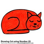 How to Draw a Cat using Number 20