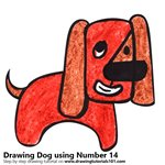 How to Draw a Dog using Number 14