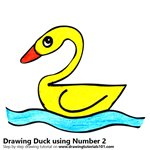 How to Draw a Duck using Number 2