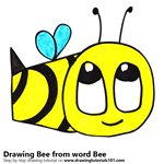 How to Draw a Bee from word Bee