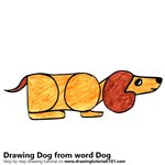 How to Draw a Dog from word Dog