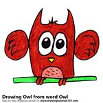 How to Draw an Owl from word Owl