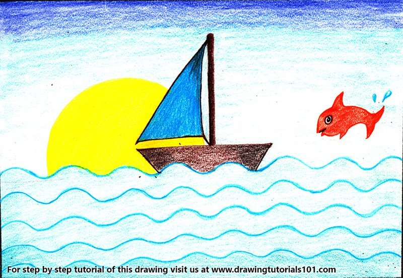 Learn How to Draw a Simple Boat for Kids (Boats for Kids ...
