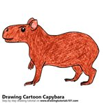 How to Draw a Cartoon Capybara