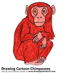 How to Draw a Cartoon Chimpanzee