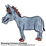 How to Draw a Cartoon Donkey