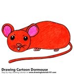 How to Draw a Cartoon Dormouse