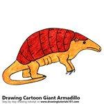 How to Draw a Cartoon Giant Armadillo