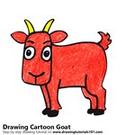 How to Draw a Cartoon Goat