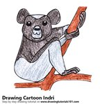 How to Draw a Cartoon Indri