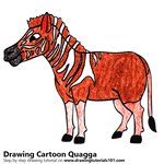 How to Draw a Cartoon Quagga