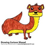 How to Draw a Cartoon Weasel