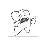 How to Draw a Crying Tooth