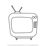 How to Draw Television for Kids