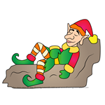How to Draw Christmas Elf Sleeping