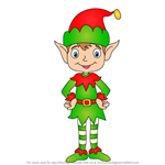 How to Draw Christmas Elf