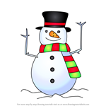 How to Draw Christmas Snowman