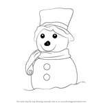 How to Draw a Decorated Snowman