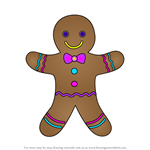 How to Draw Gingerbread Man