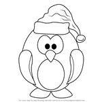 How to Draw Penguin Santa Claus