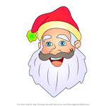 How to Draw Santa Face