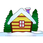How to Draw Winter Cottage
