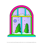 How to Draw Winter Window