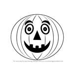 How to Draw Halloween Pumpkin for Kids