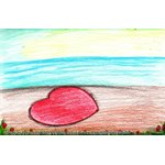 How to Draw Heart on Beach Scene