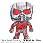 How to Draw Kawaii Ant Man