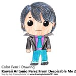 How to Draw Kawaii Antonio Perez From Despicable Me 2