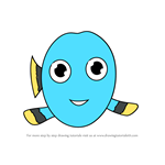How to Draw Kawaii Baby Dory from Finding Dory