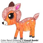 How to Draw Kawaii Bambi