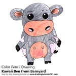How to Draw Kawaii Ben from Barnyard
