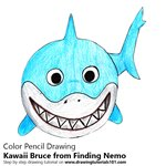 How to Draw Kawaii Bruce from Finding Nemo