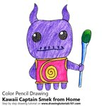 How to Draw Kawaii Captain Smek from Home