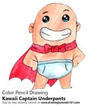 How to Draw Kawaii Captain Underpants