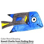 How to Draw Kawaii Charlie from Finding Dory
