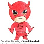 How to Draw Kawaii Daredevil