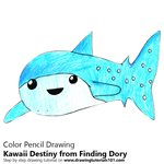 How to Draw Kawaii Destiny from Finding Dory