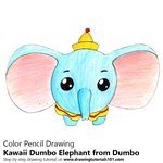 How to Draw Kawaii Dumbo Elephant from Dumbo