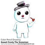 How to Draw Kawaii Frosty The Snowman