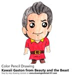 How to Draw Kawaii Gaston from Beauty and the Beast