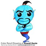 How to Draw Kawaii Genie from Aladdin