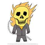 How to Draw Kawaii Ghost Rider