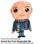 How to Draw Kawaii Gru from Despicable Me