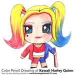 How to Draw Kawaii Harley Quinn