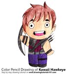How to Draw Kawaii Hawkeye