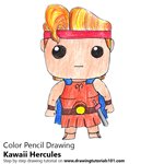 How to Draw Kawaii Hercules